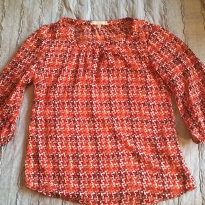 🎁Banana republic blouse red and orange